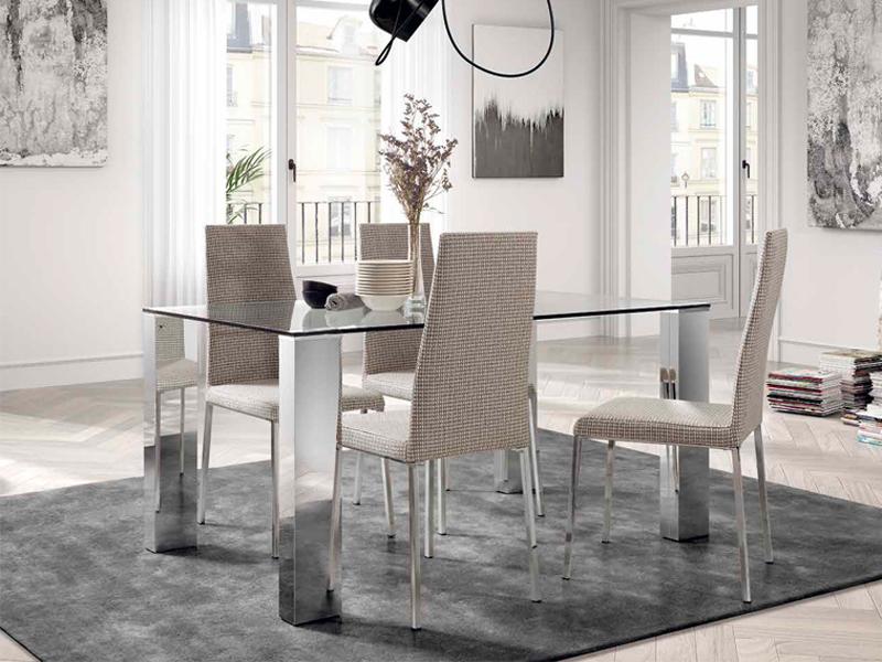 Mesas y sillas mesa comedor cristal fija mod 12 - Tienda muebles terrassa ...