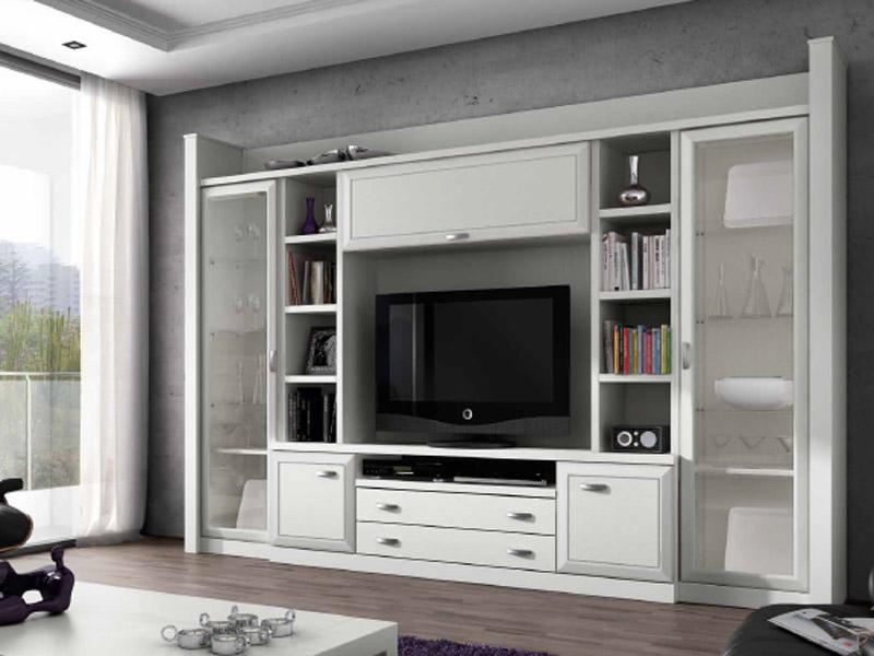 Libreria clasica blanca - Tienda muebles terrassa ...