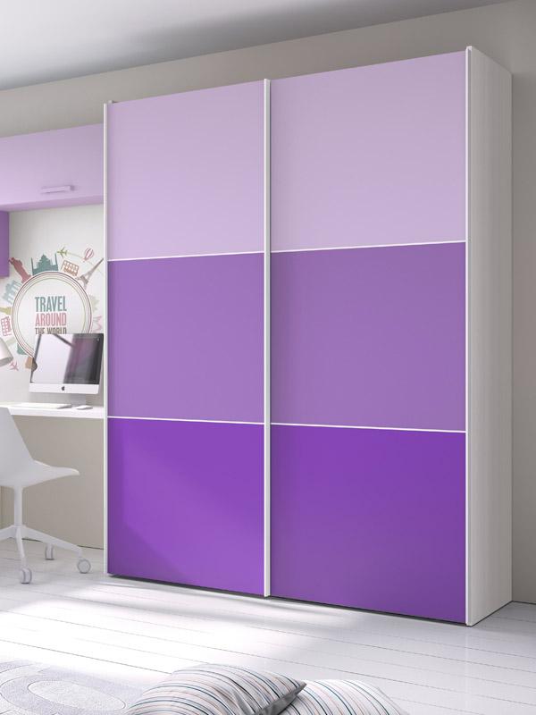 Armarios juveniles armario de puertas correderas mod - Puertas correderas para dormitorios ...