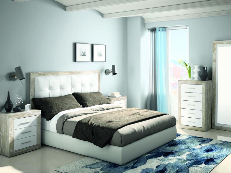 Dormitorio matrimonio cabezal tapizado mod 234 - Tienda muebles terrassa ...