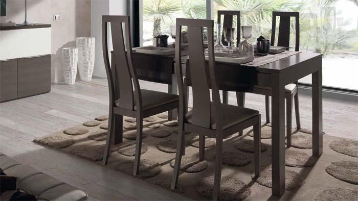 Mesas y sillas mesa rectangular extensible mod nou - Tienda muebles terrassa ...