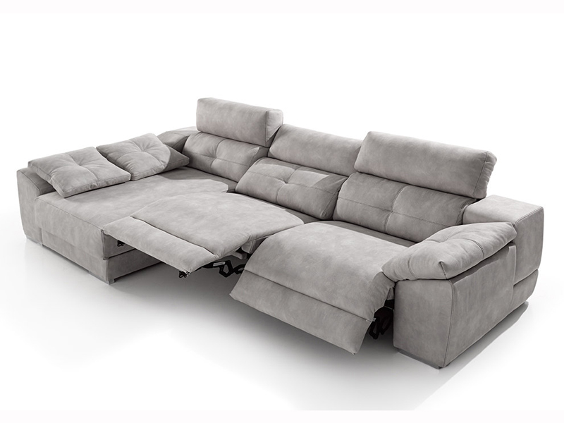 Sofa chaislongue y rinconeras sofa chaislongue con relax for Cheslong clasicos